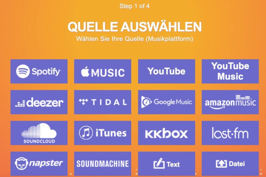 TuneMyMusic Screenshot