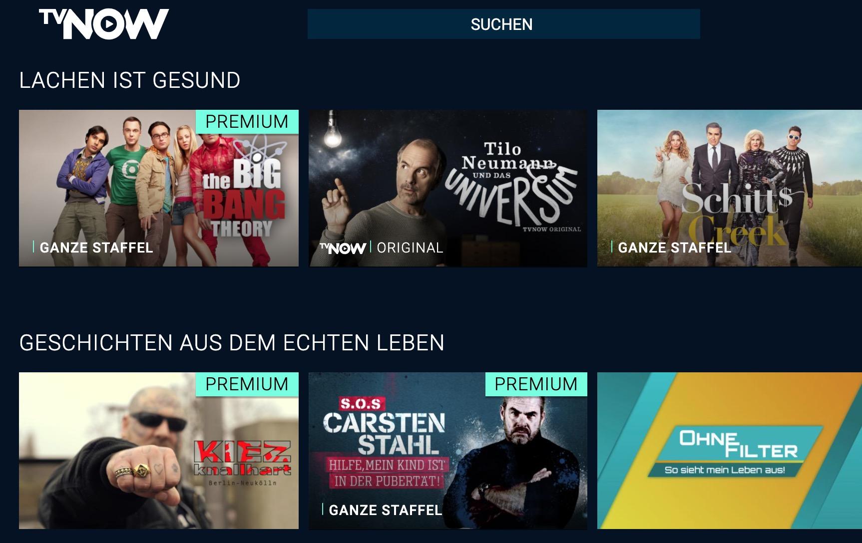 TV now Screenshot