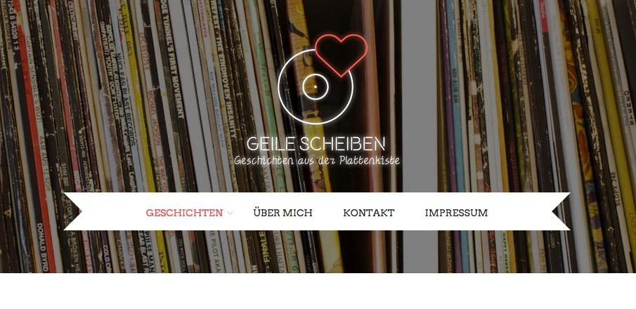 Geile Scheiben Musikblog (Screenshot)