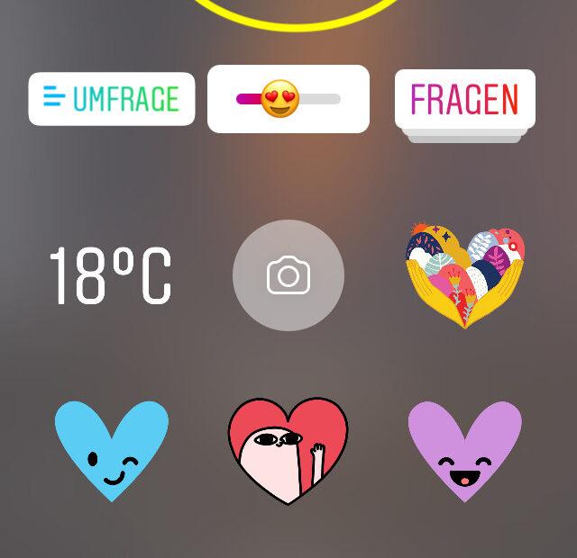 Musik in Instagram Stories (Screenshot)