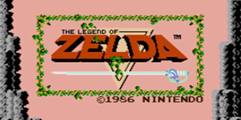 The Legend of Zelda NES title screen